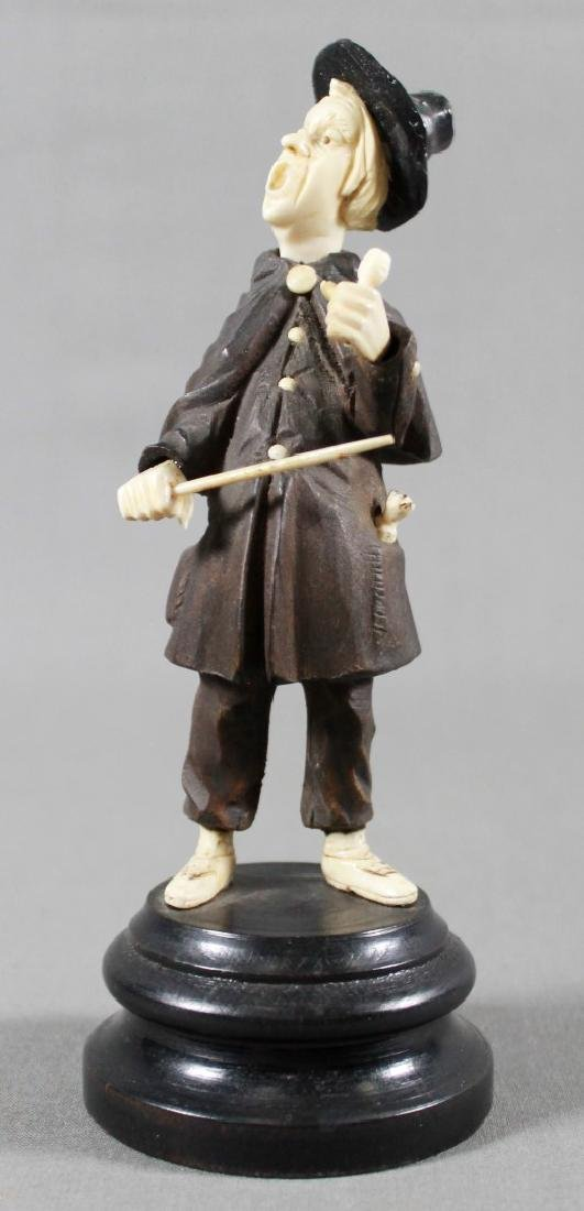 Late 19th C. German Carved Wood and Composite Figure