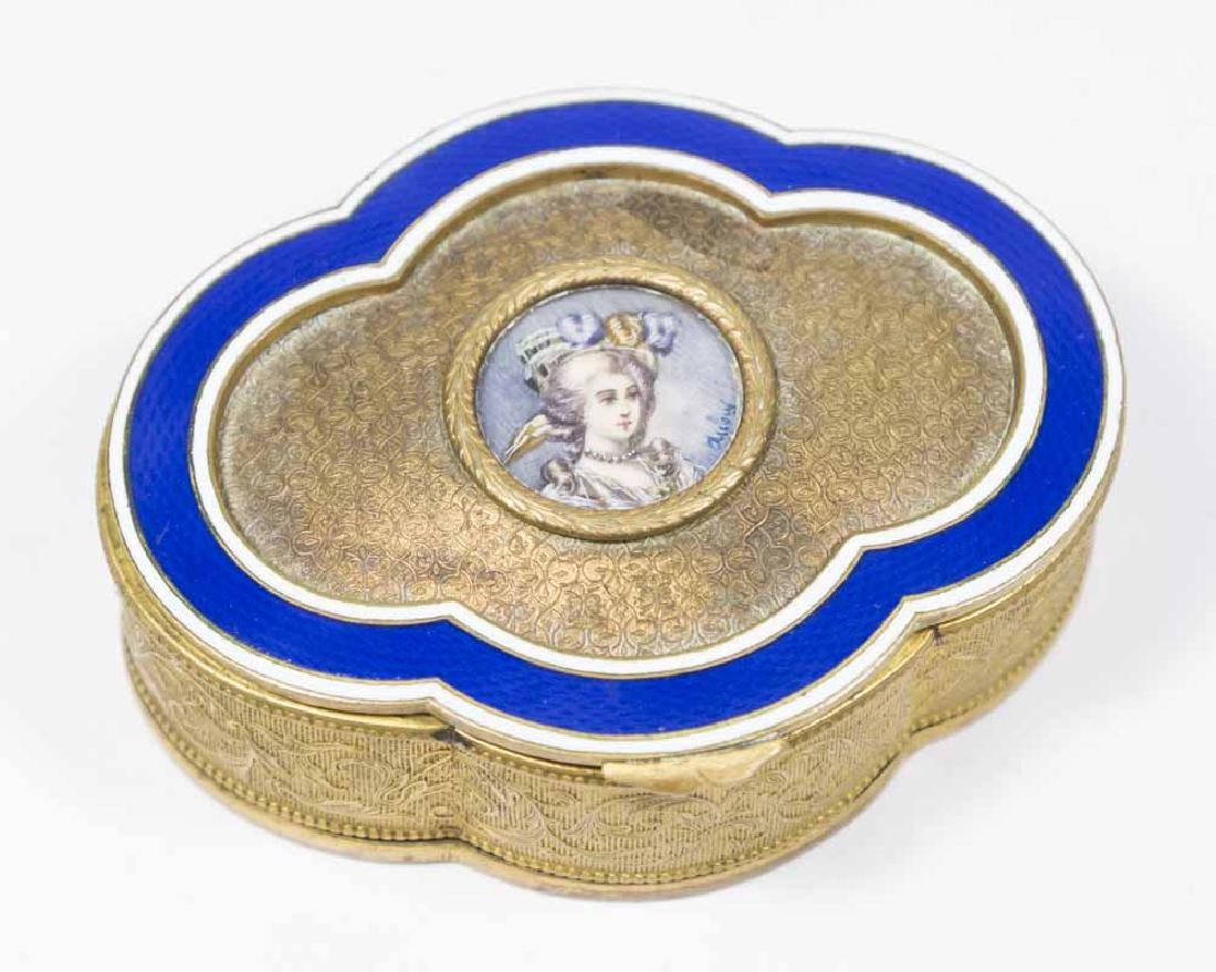 Brass & Enamel Portrait Box