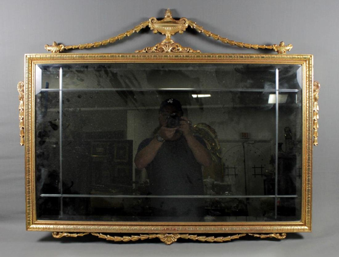 GEORGIAN STYLE GILT RECTANGULAR MIRROR