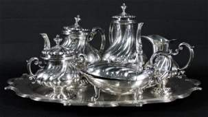 6 PC STERLING SILVER TEASET
