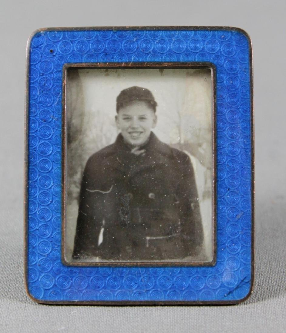MINIATURE BRONZE AND ENAMEL FRAME