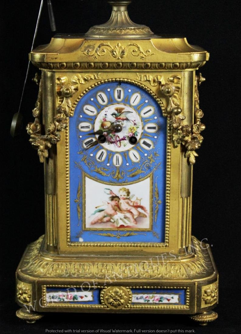 EARLY 19TH C. SEVRES MANTLE CLOCK - 2