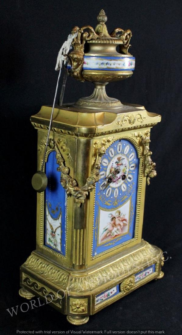EARLY 19TH C. SEVRES MANTLE CLOCK - 4