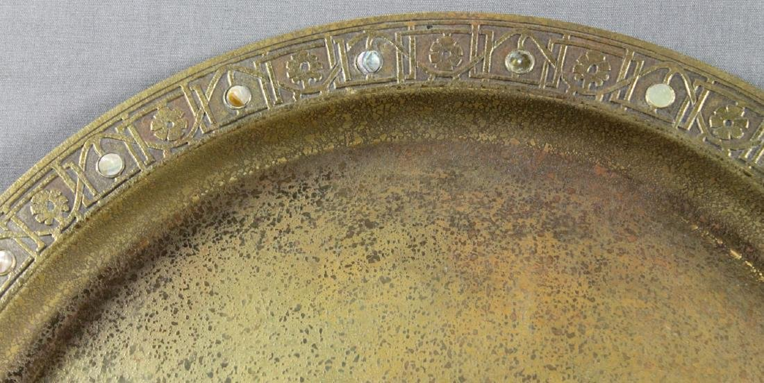 TIFFANY STUDIOS NY BRONZE TRAY WITH MOTHER OF PEARL - 2