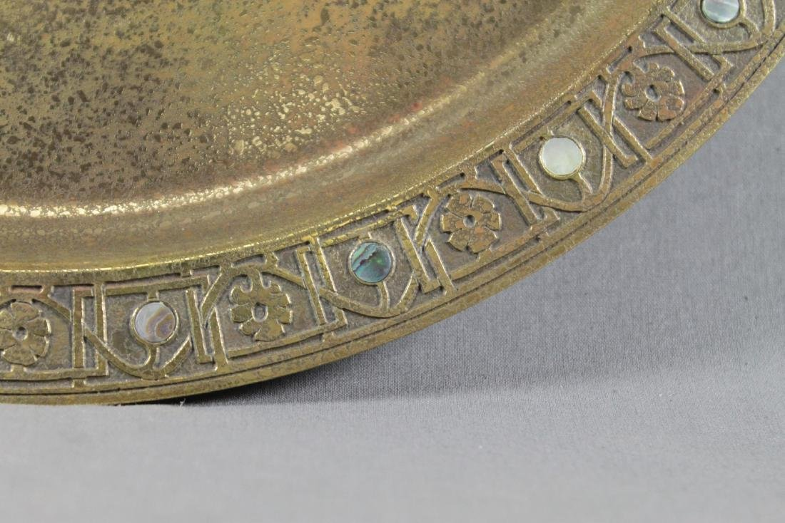 TIFFANY STUDIOS NY BRONZE TRAY WITH MOTHER OF PEARL - 3