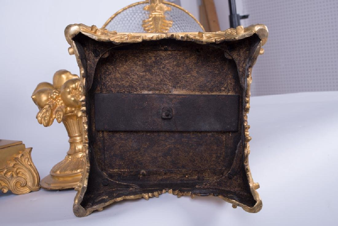 PAIR OF 19TH C. LOUIS XVI STYLE GILT BRONZE & CUT GLASS - 5