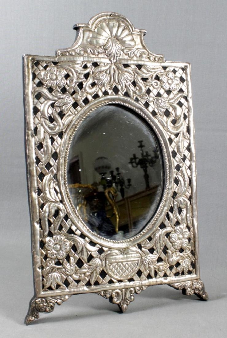 SILVER FRAME TABLE MIRROR