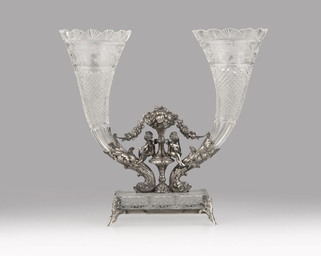 Late 19th century German .800 silver-mounted cut