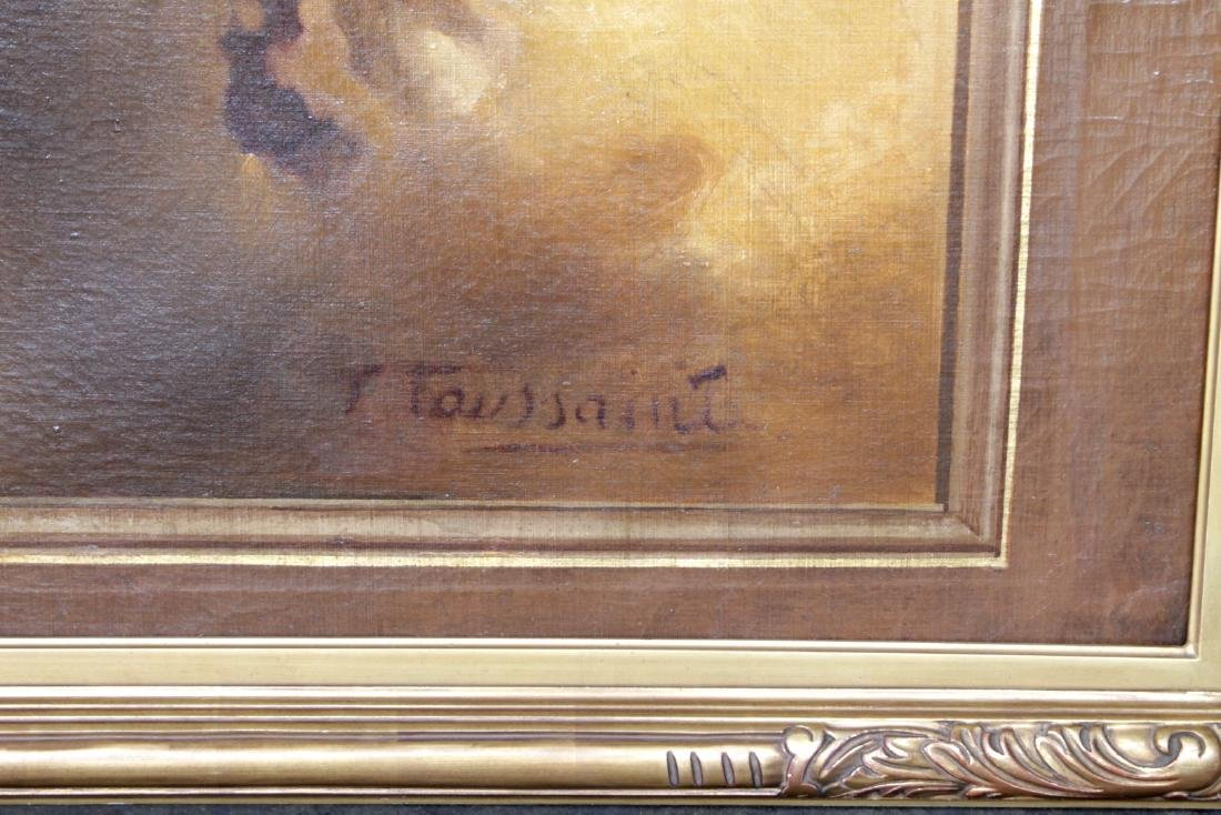 """MONUMENTAL109"""" X 46"""" PAINTING OF ANGEL ON CANVAS SIGNED - 3"""