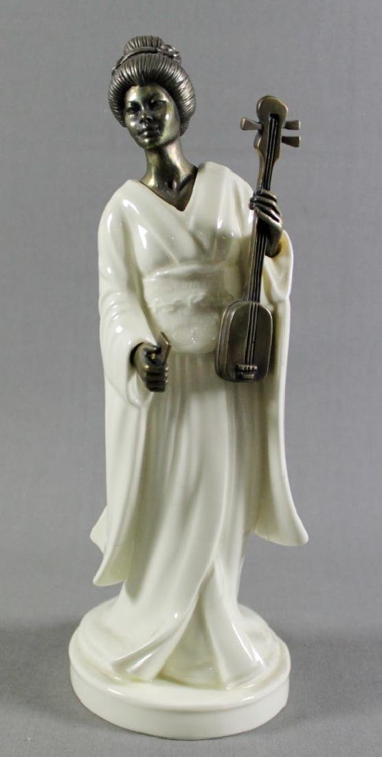 "MINTON PORCELAIN AND BRONZE FIGURE""THE FISHERMAN"""