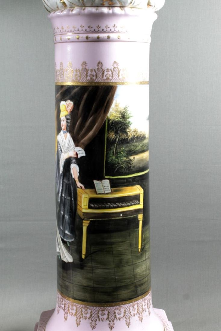 PAIR OF LARGE SEVRES STYLE PEDESTALS - 3