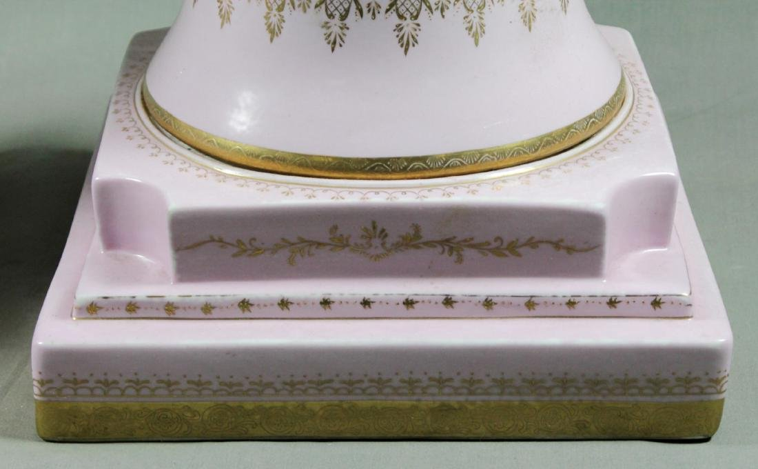 PAIR OF LARGE SEVRES STYLE PEDESTALS - 5