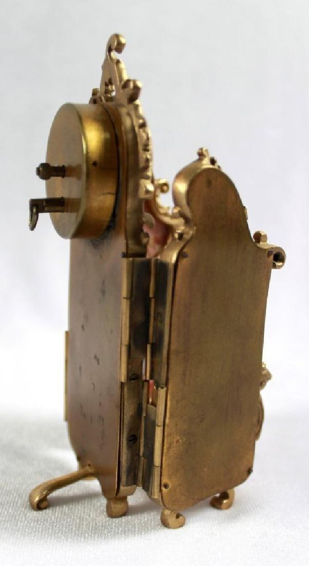 AUSTRIAN VIENNVIENNESE ENAMEL BRONZE PANEL SCREEN CLOCK - 8