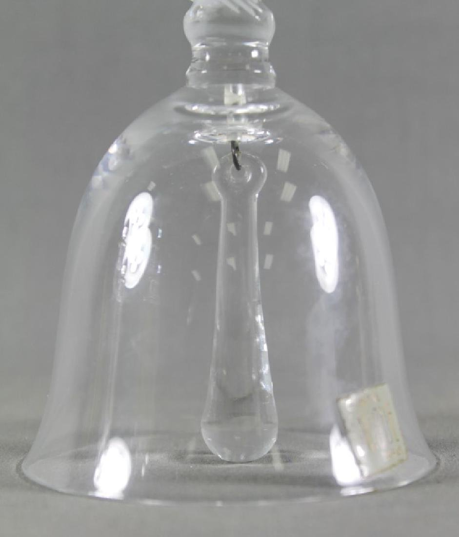 LALIQUE FRANCE ICONIC SPARROW DINNER BELL - 3
