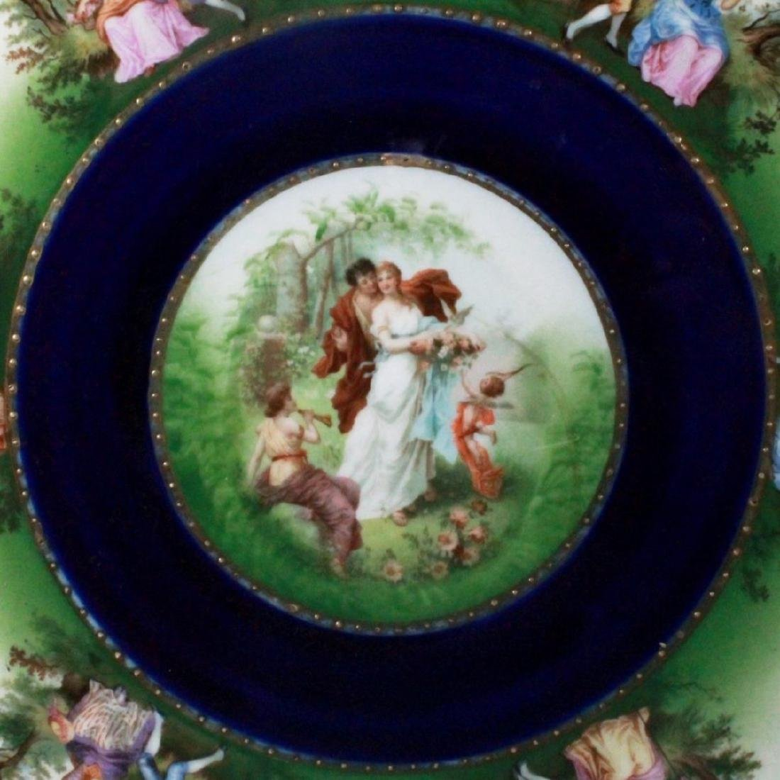 ROYAL VIENNA CHARGER DEPICTING COUPLES COURTING - 2