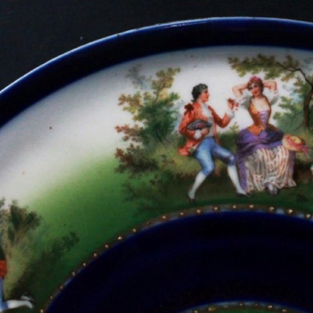 ROYAL VIENNA CHARGER DEPICTING COUPLES COURTING - 5
