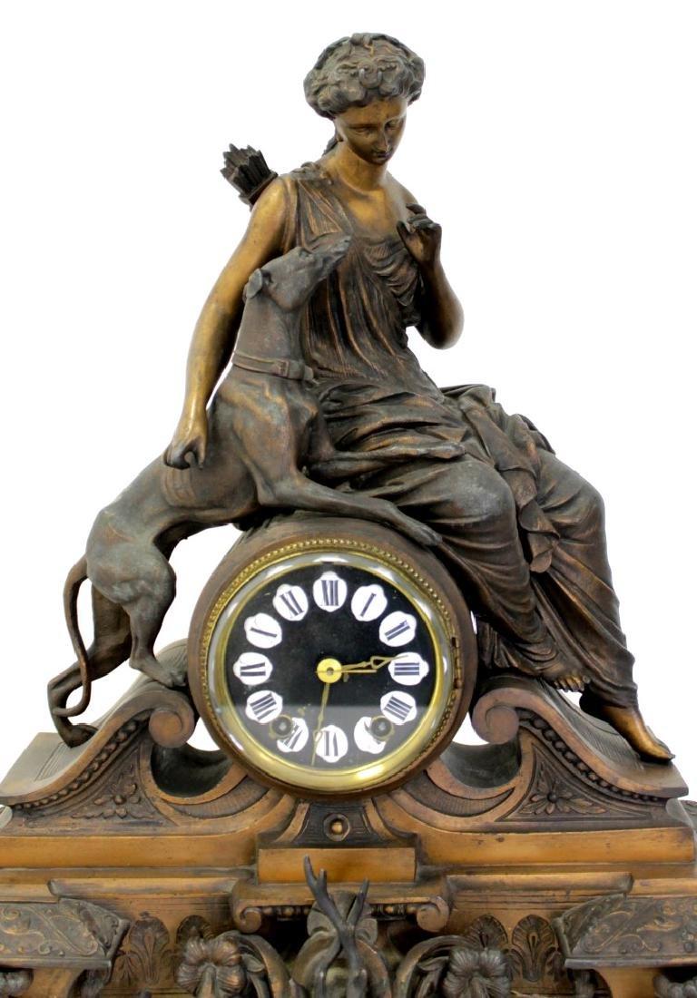 ANTIQUE VICTORIAN CARTUSC MANTLE CLOCK C. 1890'S - 2