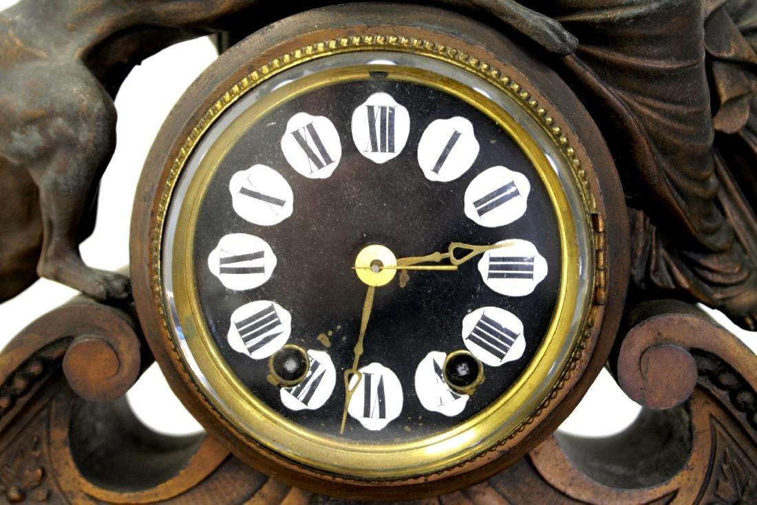 ANTIQUE VICTORIAN CARTUSC MANTLE CLOCK C. 1890'S - 3