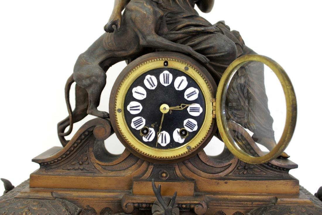 ANTIQUE VICTORIAN CARTUSC MANTLE CLOCK C. 1890'S - 4