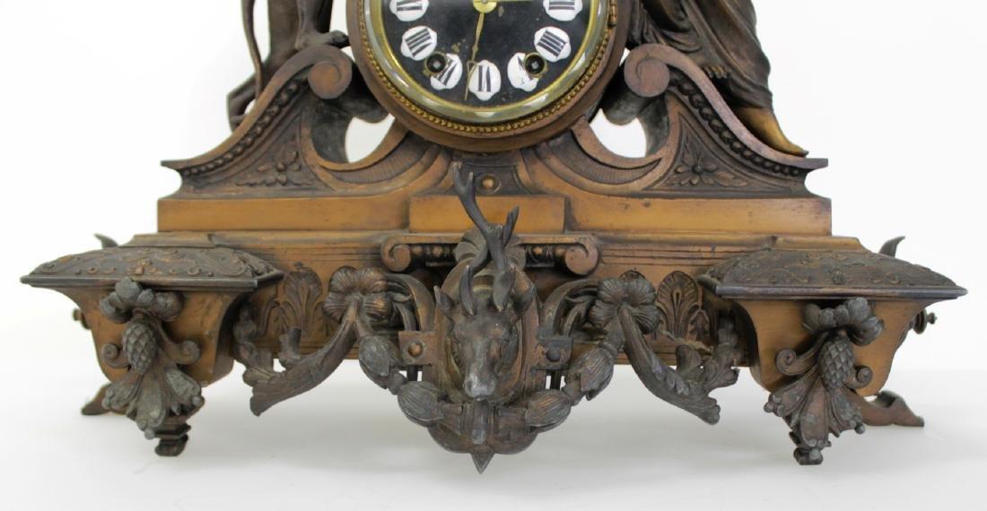 ANTIQUE VICTORIAN CARTUSC MANTLE CLOCK C. 1890'S - 5