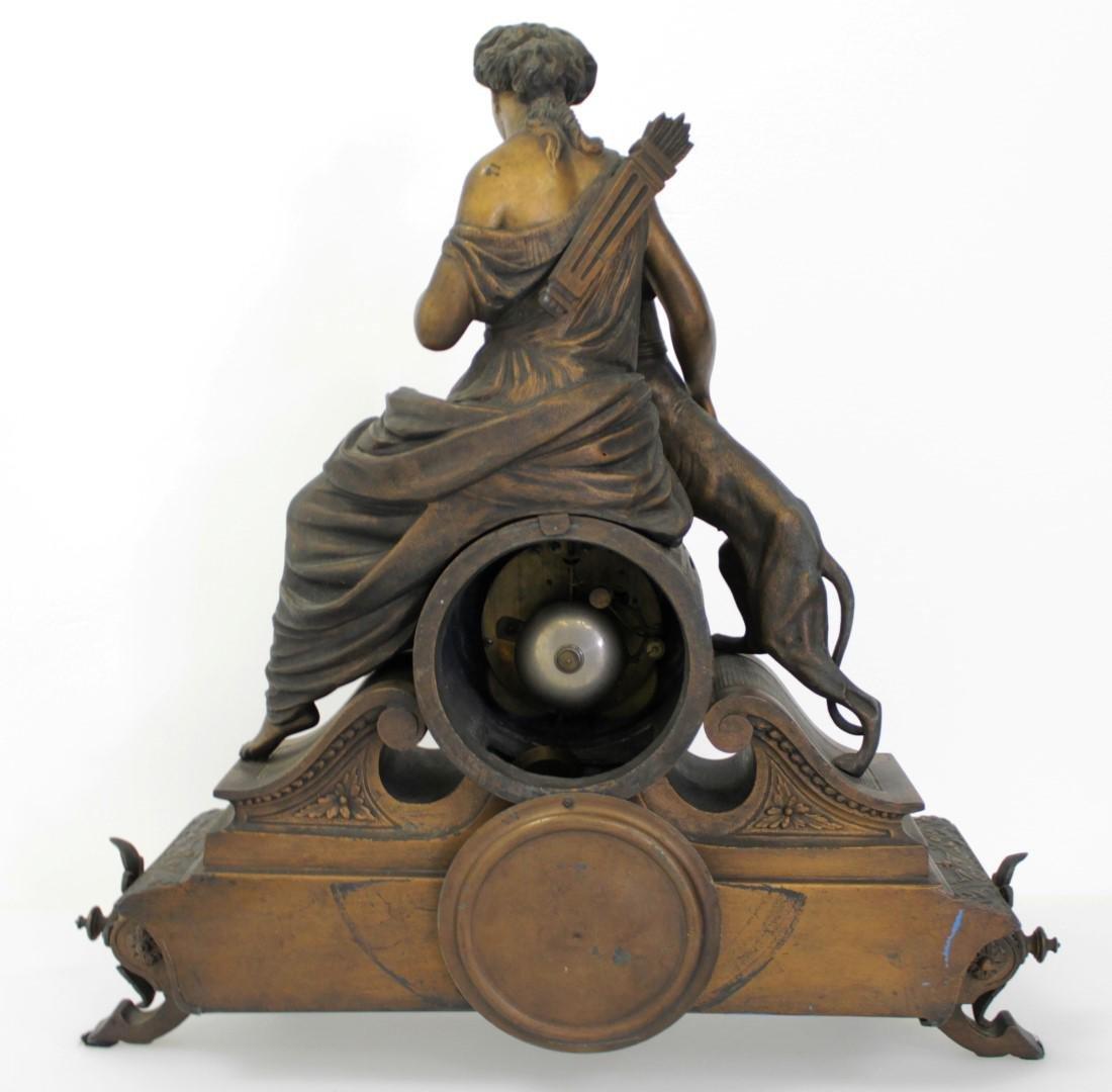 ANTIQUE VICTORIAN CARTUSC MANTLE CLOCK C. 1890'S - 6