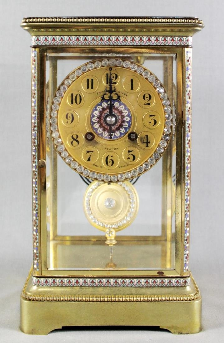 Theodore Starr French Crystal Regulator Mantle Clock,