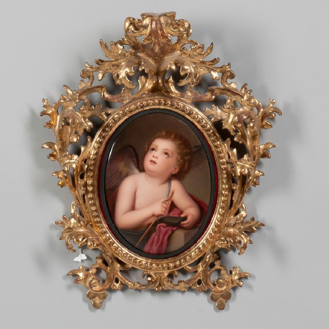19th C. KPM Porcelain Plaque Depicting an Angel