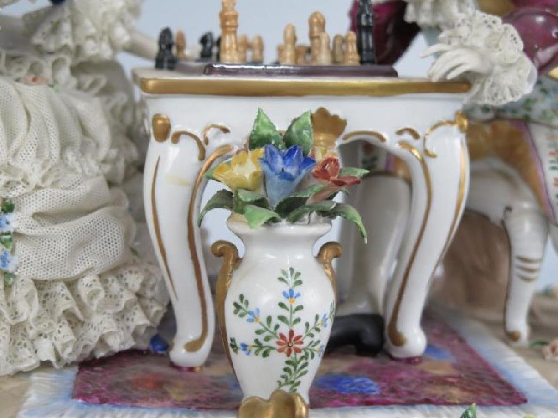 Dresden Style Lace Porcelain Group - 3