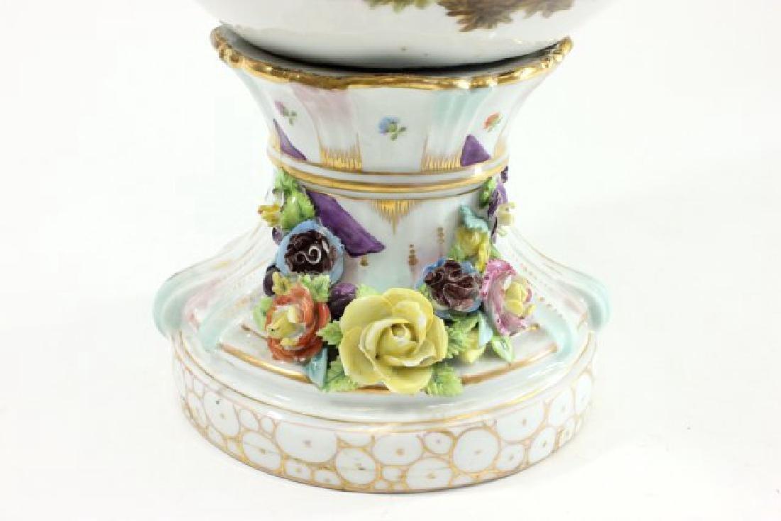 German Porcelain Encrusted Urn with Muses Scene on - 4