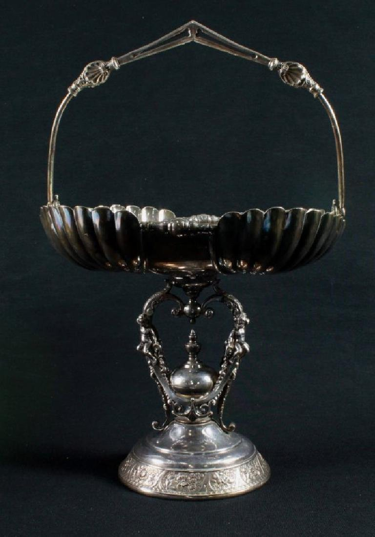 ANCIENT VICTORIAN SILVER PLATED COMPOTE MADE BY WILCOAX - 2