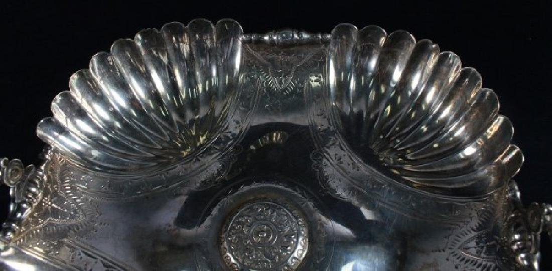 ANCIENT VICTORIAN SILVER PLATED COMPOTE MADE BY WILCOAX - 5