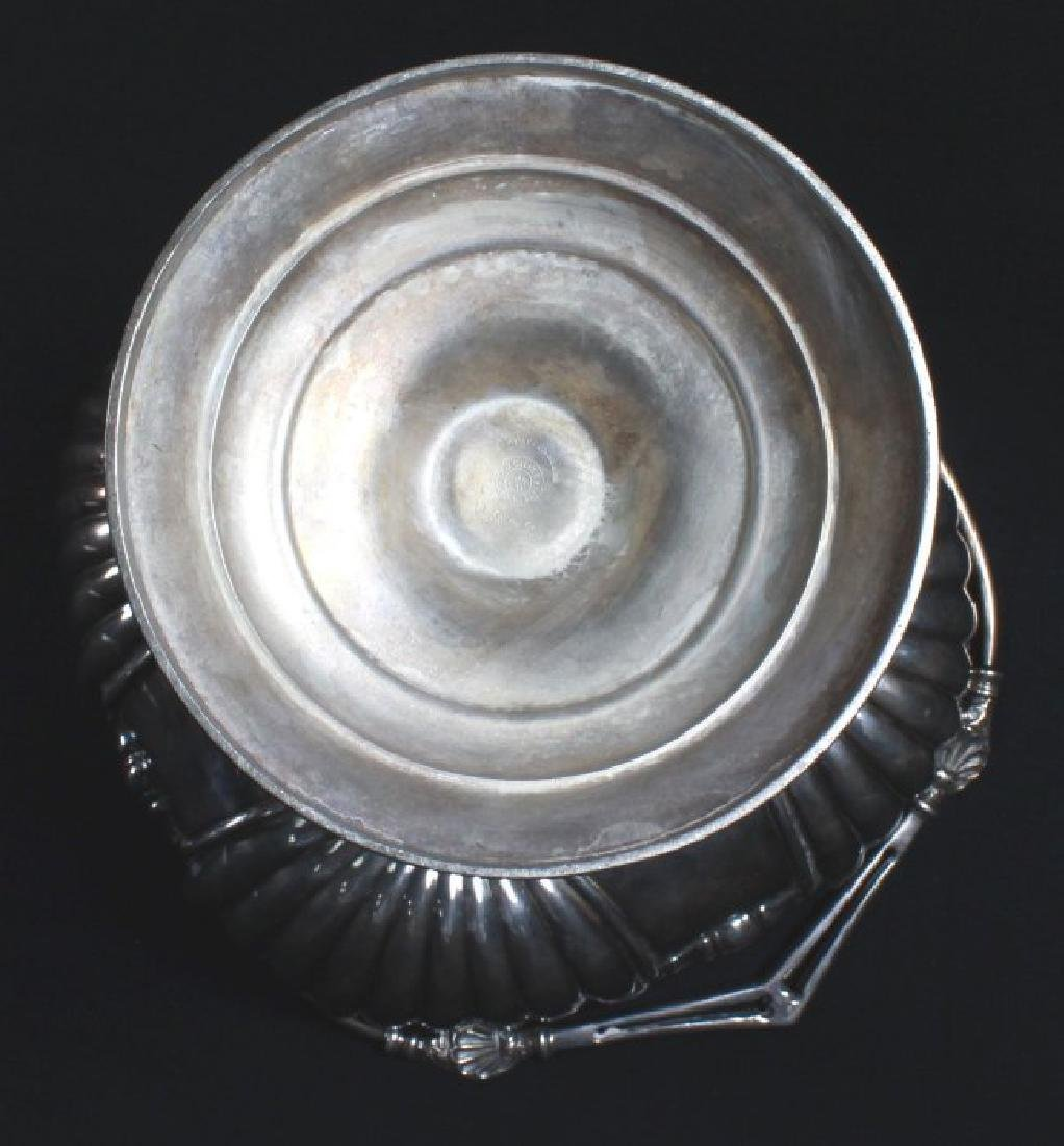 ANCIENT VICTORIAN SILVER PLATED COMPOTE MADE BY WILCOAX - 9