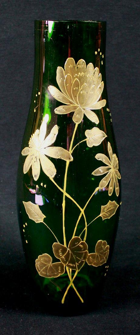 MOSER STYLE GILT DECORATED VASE - 5