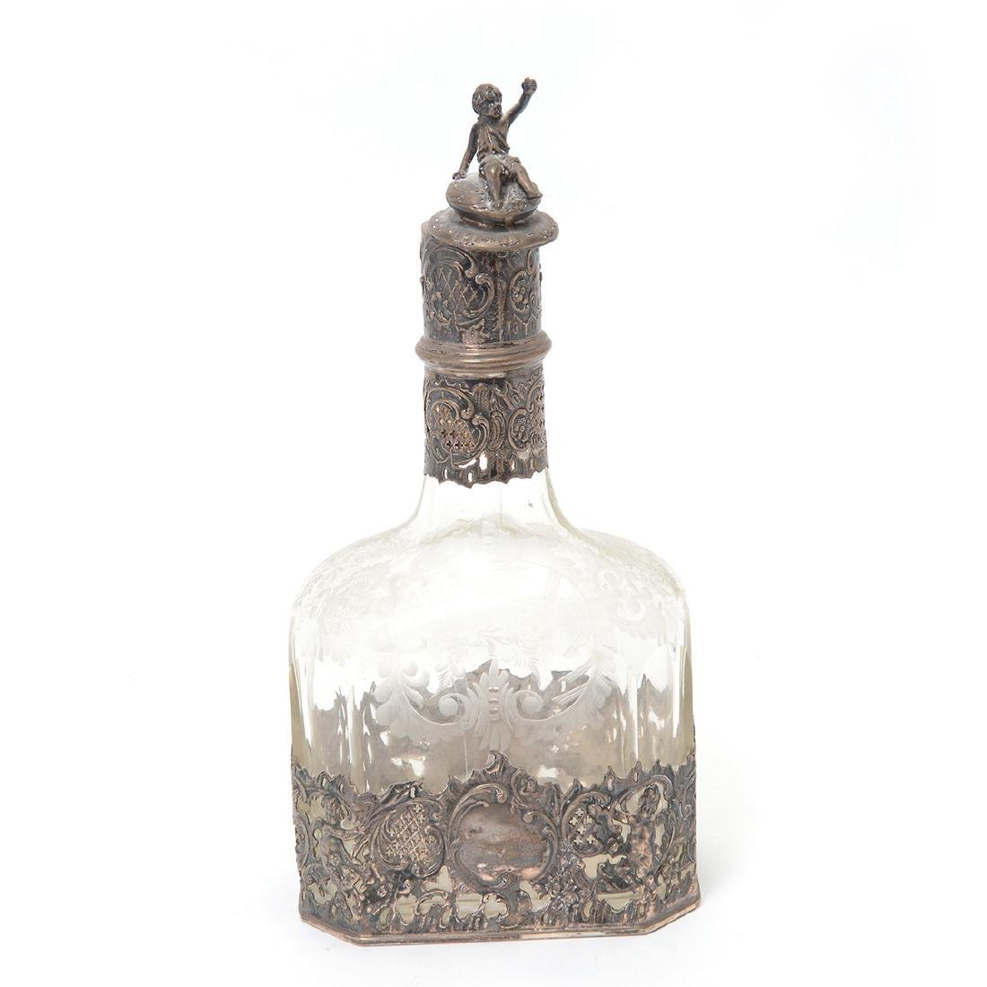 Etched Glass Decanter with 800 Standard Mounts