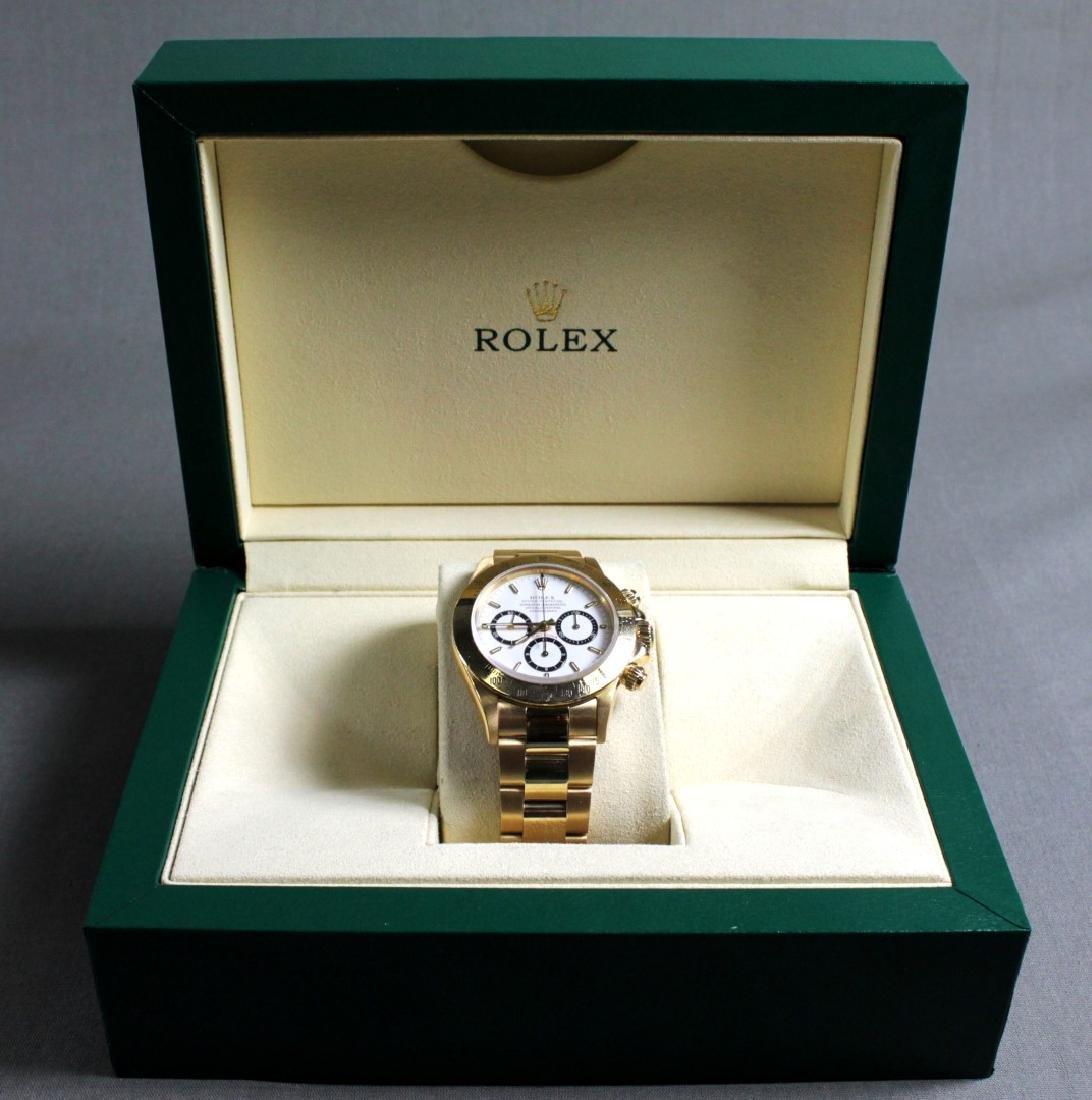 Rolex 18k Yellow Gold Daytona Wristwatch - 2