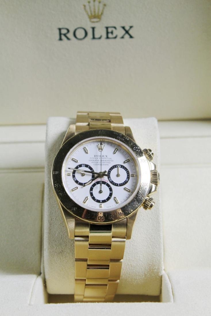 Rolex 18k Yellow Gold Daytona Wristwatch - 3