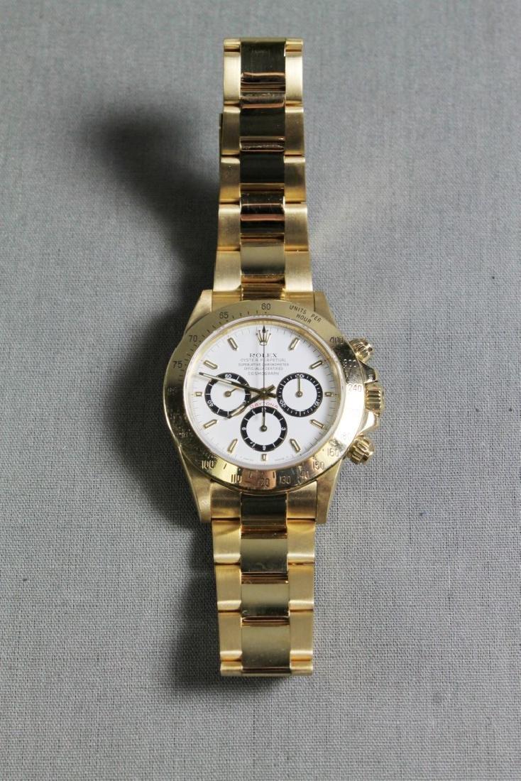 Rolex 18k Yellow Gold Daytona Wristwatch - 4