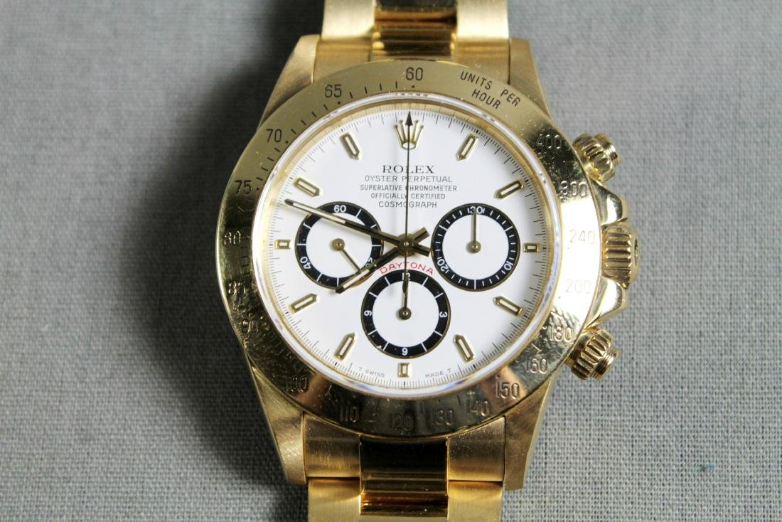 Rolex 18k Yellow Gold Daytona Wristwatch - 5