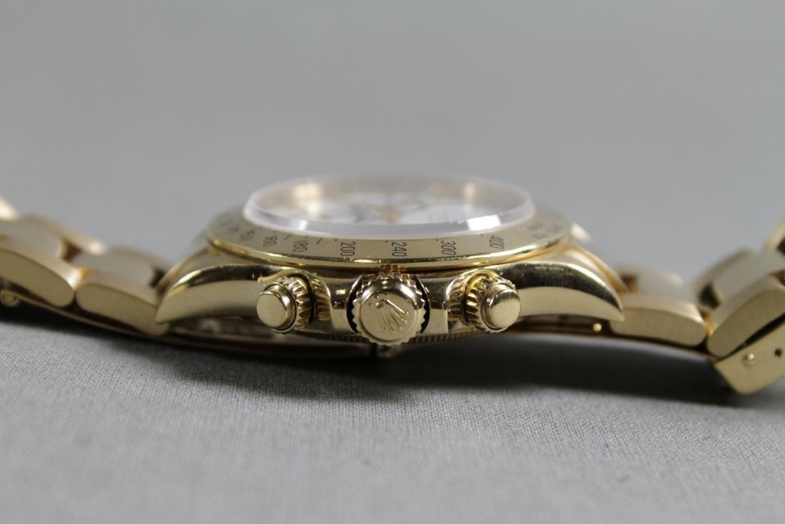 Rolex 18k Yellow Gold Daytona Wristwatch - 6