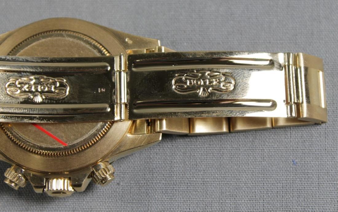 Rolex 18k Yellow Gold Daytona Wristwatch - 7
