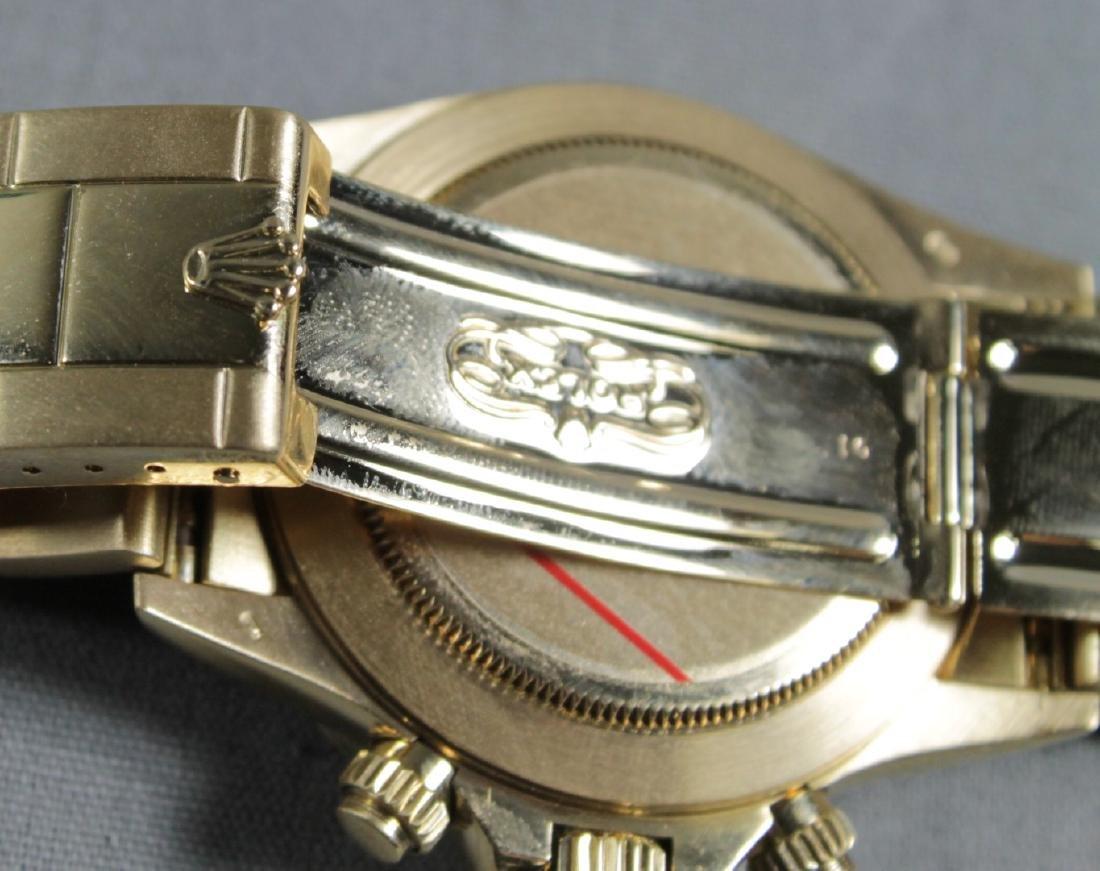 Rolex 18k Yellow Gold Daytona Wristwatch - 8