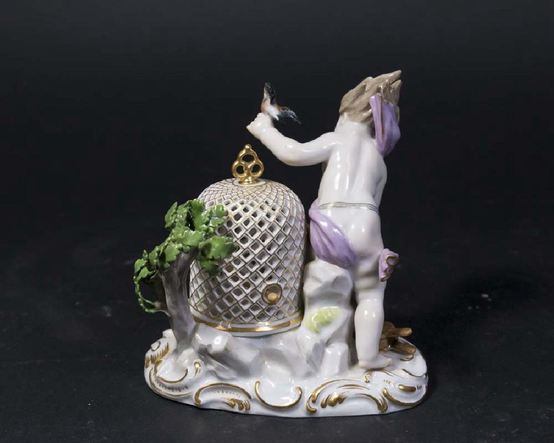 19th C. Meissen Porcelain Figure, Allegory of the Wind - 2