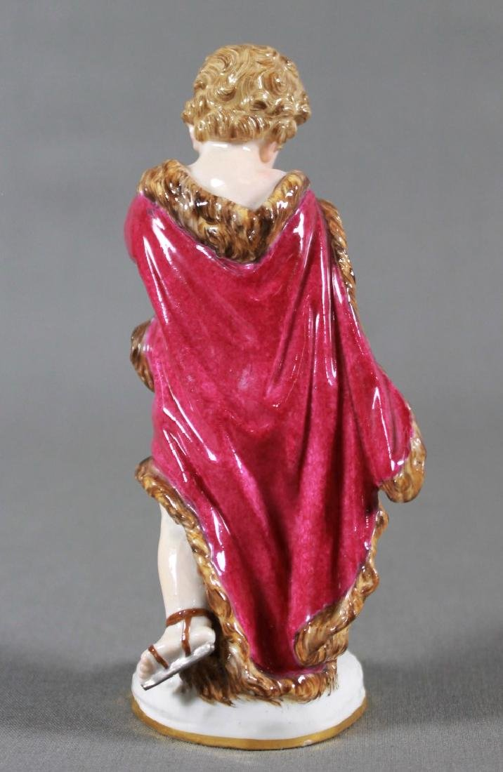 MEISSEN PORCELAIN EMBLEMATIC FIGURE LATE 19TH/EARLY - 2