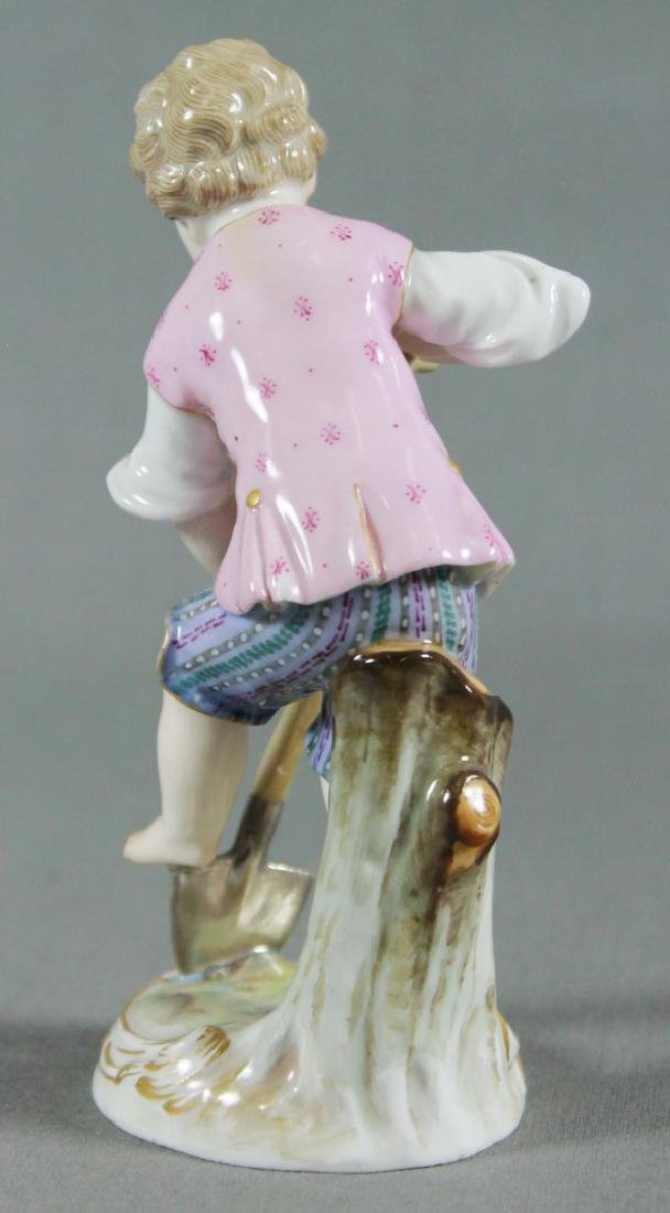 MEISSEN FIGURE OF GARDENER - 3