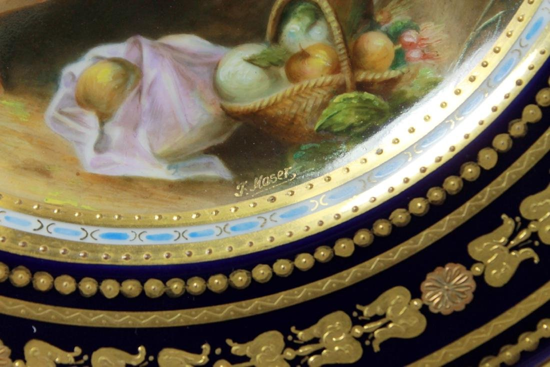 """ROYAL VIENNA HAND PAINTED CABINET PLATE, """" THE MELON - 3"""