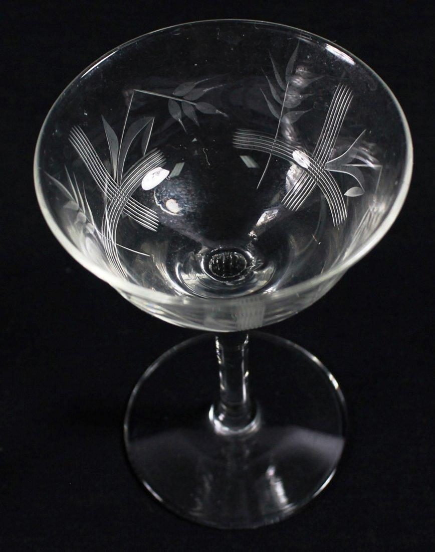ETCHED WINE GLASSES, 12 PCS - 7