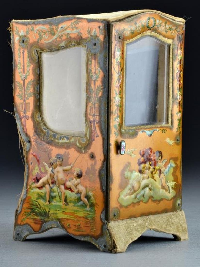 A French Curio Cabinet Formed as Sedan Chair