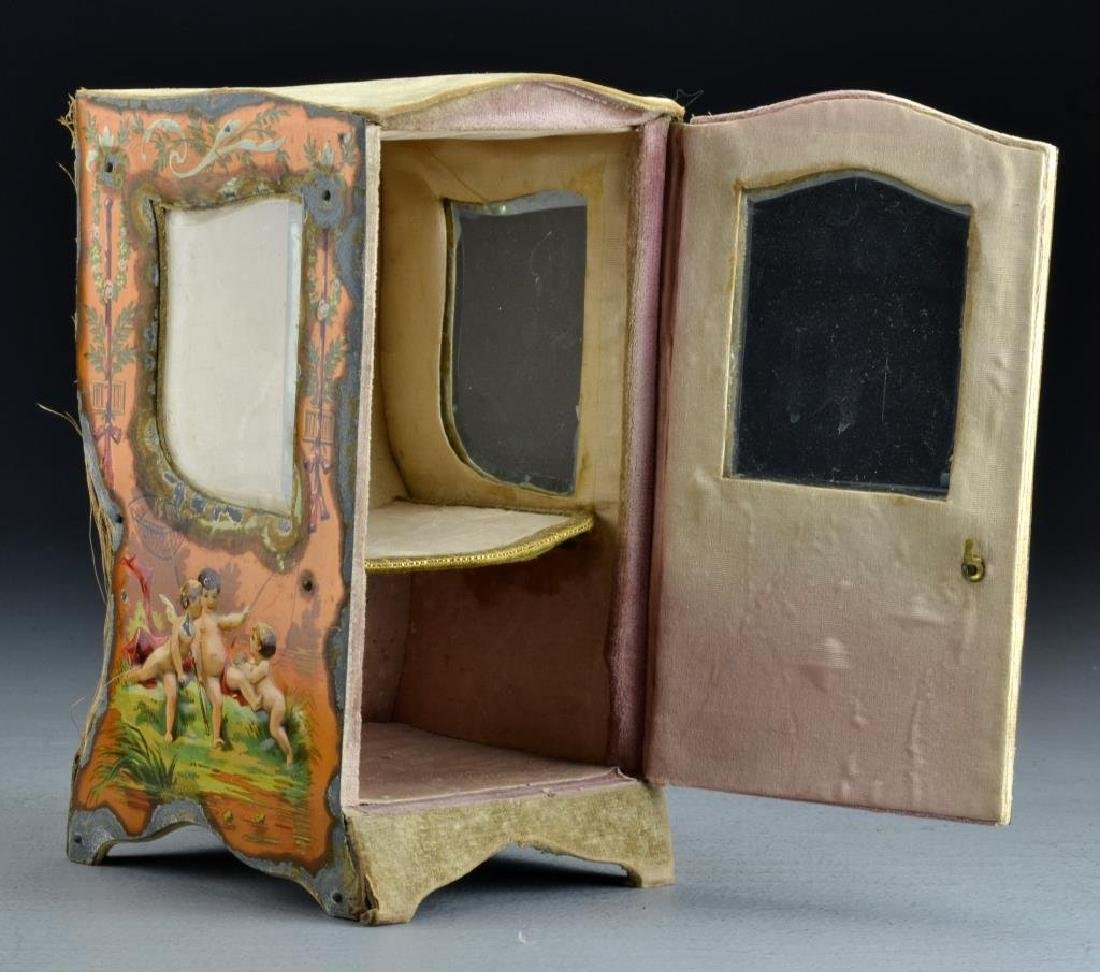 A French Curio Cabinet Formed as Sedan Chair - 2