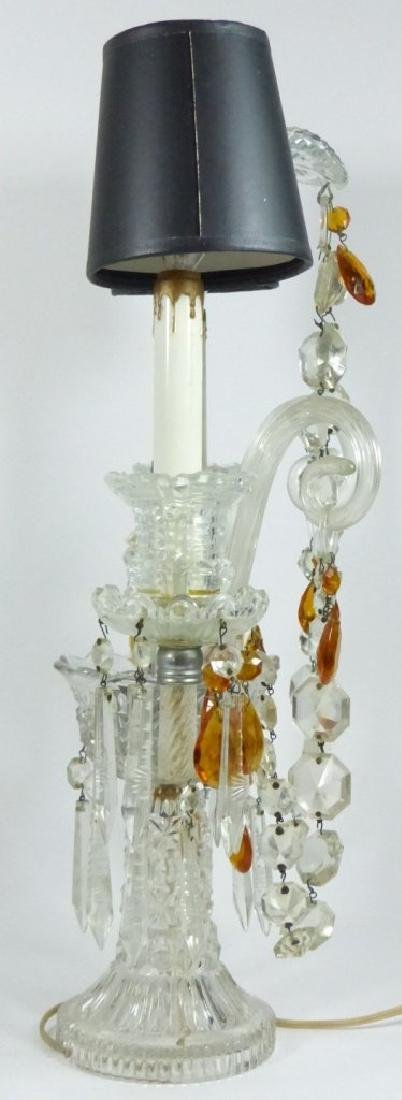 PAIR OF CRYSTAL GIRONDOLE TABLE LAMPS - 3