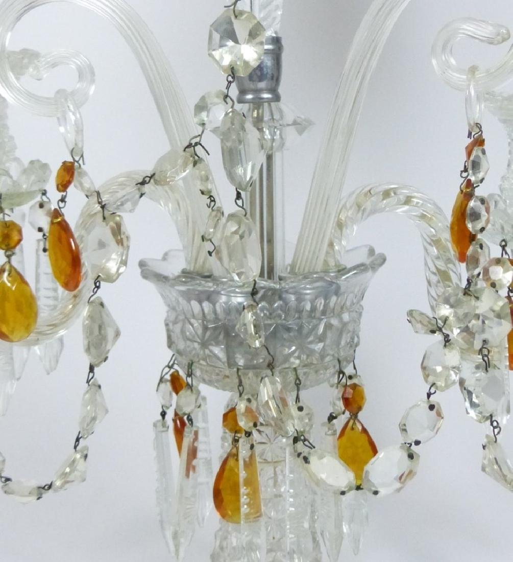 PAIR OF CRYSTAL GIRONDOLE TABLE LAMPS - 7